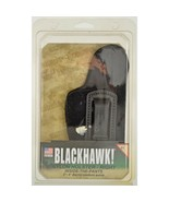 """NIB Blackhawk! Holster Nylon Inside the Pants Right Black 3-4"""" Barrel Me... - $23.76"""