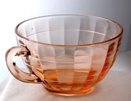 Anchor Hocking Depression Glass Pink Block Optic Tea Cup - $5.00