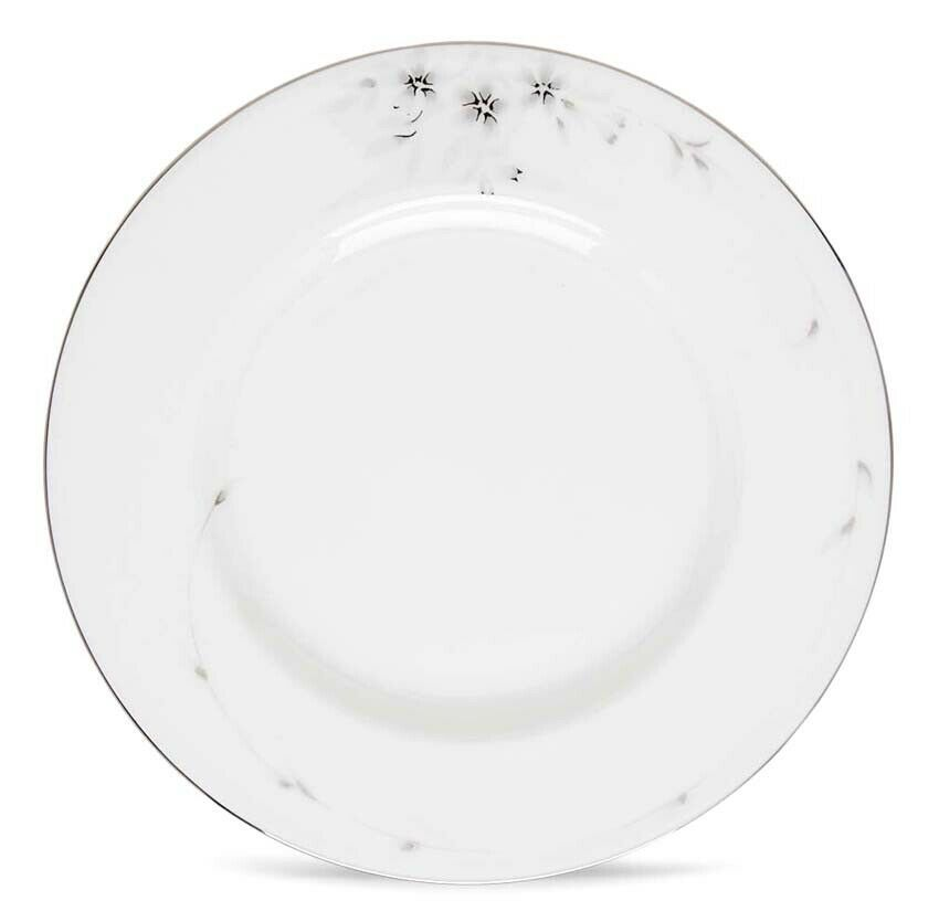 "Lenox Sheer Bliss Accent Luncheon Plate 9"" Platinum Trim New - $32.90"