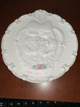 PRECIOUS MOMENTS HAPPY ANNIVERSARY PLATE To Have And To Hold 1995 - $15.50
