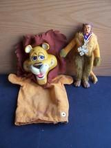2 LIONS - Cowardly Lion Oz Mego + Linus Lionhearted Hand Puppet Mattel V... - $49.99