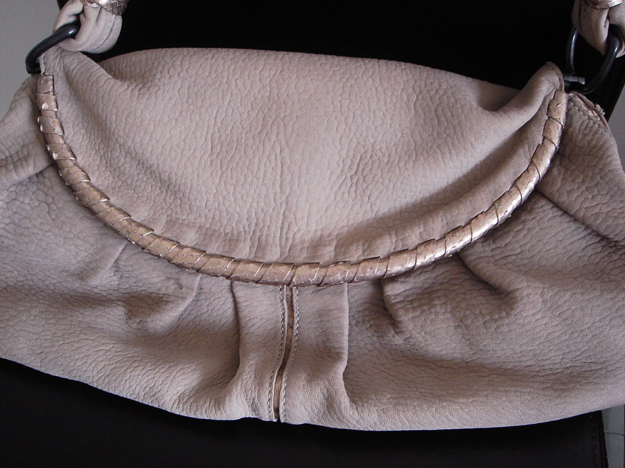 Bottega Veneta Soft Beige Stone Taupe leather satchel hobo  Bottega Veneta