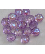 Vintage 9mm Rondelle Amethyst AB Glass Beads 16 - $3.00