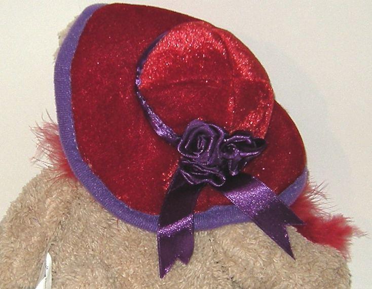 50% off! Crystal Temptations Red Hat Ladies Plush Bear
