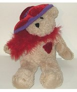 50% off! Crystal Temptations Red Hat Ladies Plush Bear - $3.00