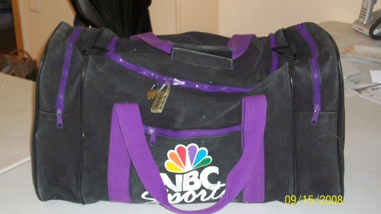 nbc sport, gym duffle black bag Bonanza