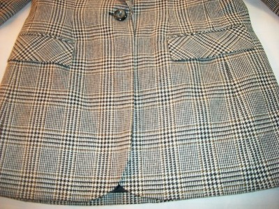 WOMEN LADIES BICE PLAID CAREER DRESS JACKET SIZE 6 8 10 12 N