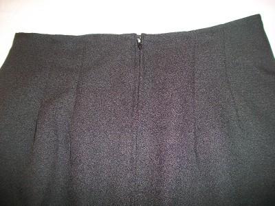 WOMEN HARVE BENARD PETITE BLACK DRESS CAREER SKIRT 8 10