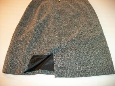 WOMEN STYLE & CO BLACK WHITE DRESS CAREER SKIRT 12 14