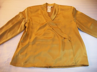 WOMEN J.G.HOOK GOLD DRESS CAREER SHIRT SZ 8 10 12 NWT