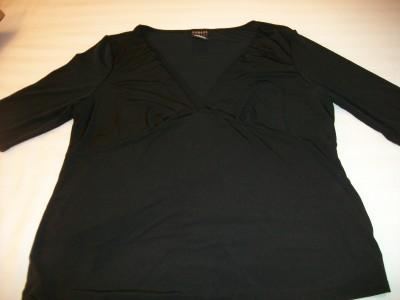 WOMEN GEORGE BLACK DRESS CAREER SHIRT TOP L LARGE 12 14