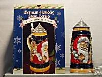BUDWEISER CS413 1999 GERMAN ST NICHOLAS LIDDED STEIN
