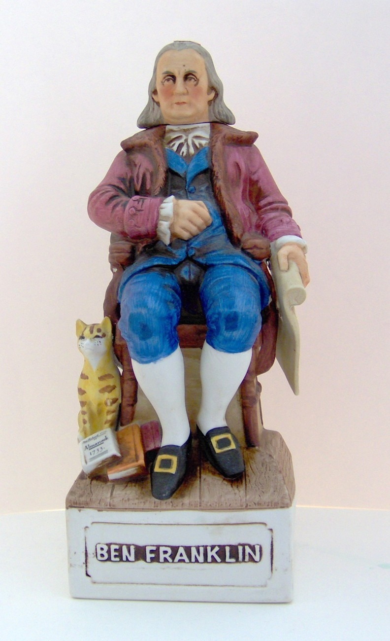 Ben Franklin Decanter - McCormick - Bicentennial Series Other