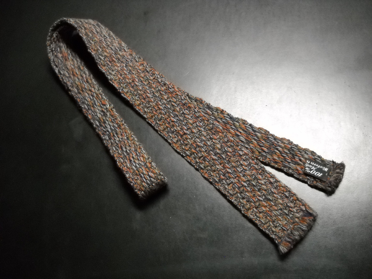 Guy Laroche Cravates Neck Tie A Weave of German Wools in Browns Fringed Ends
