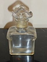 "Vintage Guerlain BACCARAT Empty Perfume Bottle 4.5"" Tall - $65.00"