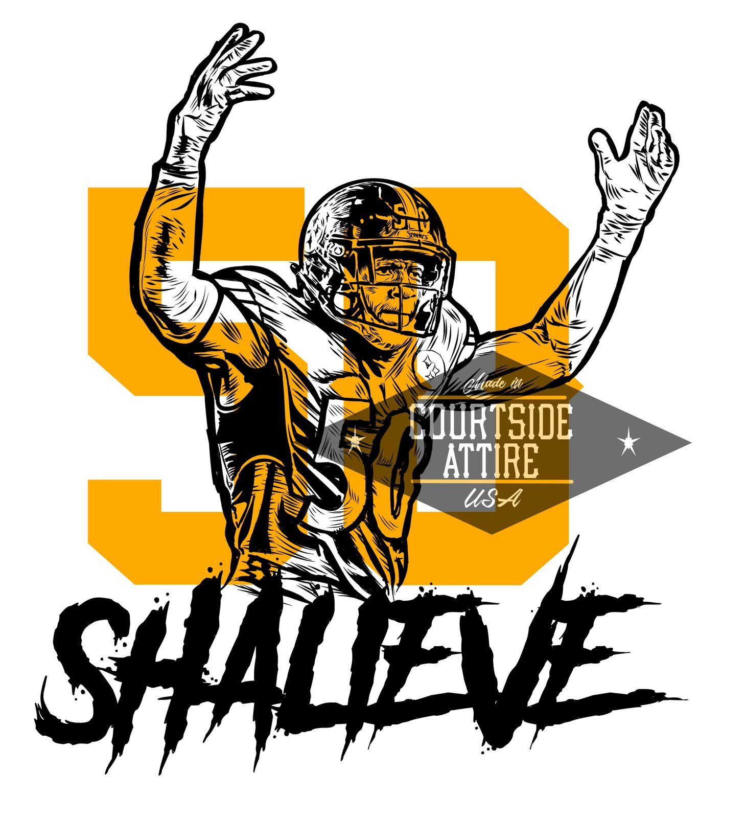 4771489fd Youth Ryan Shazier SHALIEVE Hoodie Sweatshirt Pittsburgh Kids