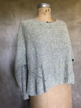 Women Marled Pullover Sweater Cotton Blend XS Anthropologie MOTH Oversized Swing - $24.07