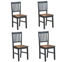 Set of 4 Dining Chair Spindle Back Wooden Legs - $281.42