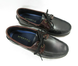 Sperry Top Sider Men's Boat Deck Shoe Leather Size 9.5 M Black Brown New - $73.26
