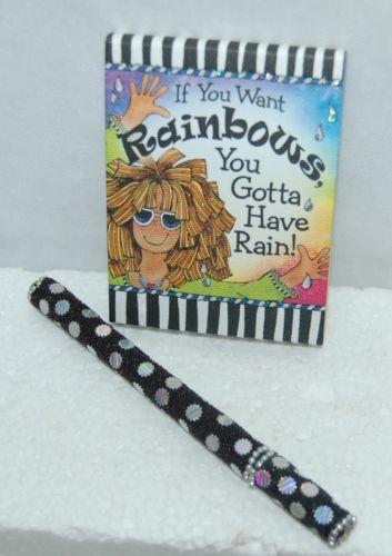 Blue Mountain Arts PNZ611 Tingle Heart Rainbows Notepad Beaded Pen Set