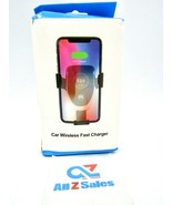 Car Mount Qi Wireless Charger Air Vent CellPhone Holder Fast Charging - New - $9.85