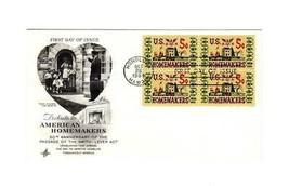 Fdc ENVELOPE- Tribute To American Homemakers 4BL -1964 Art Craft Cachet BK12 - $2.18