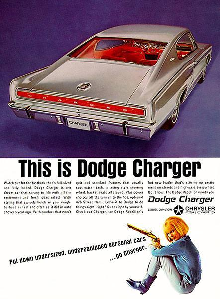 Primary image for 1966 Dodge Charger - Promotional Advertising Poster