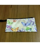 Make Up Bag, Pencil Case, Plastic Pouch, Butterfly Pouch, - $9.00