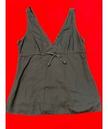 Jcrew Navy Blue 100% Cotton Tank Top Women's Size 12 - $16.53