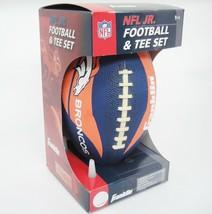 Franklin Denver Broncos NFL Jr Football & Tee Set Orange and Blue Grip-Rite NIB - $29.69
