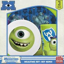 Monsters University 3 Piece Kids Dinnerware Set: Plate, Bowl and Tumbler UNUSED - $21.28
