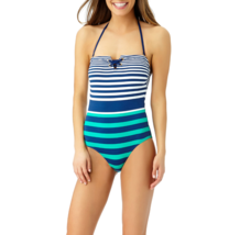 Liz Claiborne Stripe One Piece Swimsuit Size 6 Msrp $89.00 New - $29.99