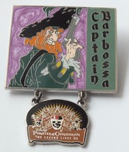 Disney Pirates Of The Caribbean Captain Barbossa Legend Lives On Dangle LE Pin - $17.32