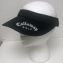 Callaway Golf Embroidered Logo Sun Visor Hat Cap Adjustable Black Brand New - $12.95