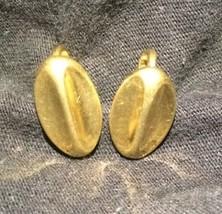 Vintage Trifari Gold Earrings Clip On  - $12.19