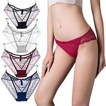 329e47fb5f2e Vivilover Women's Sexy Lingerie Underwear Lace Thong Hipster Panties L..