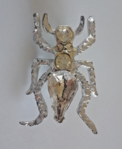 Vintage Insect Bug Clear Rhinestone Silver Tone Brooch - €5,12 EUR