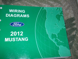 2012 Ford Mustang Electric Wiring Diagram Troubleshooting Manual - $118.74