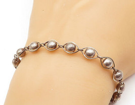925 Sterling Silver - Vintage Smooth Orbiting Ball Bead Chain Bracelet -... - $27.07
