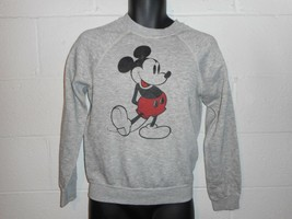 Vintage 80s Heather Gray Mickey Mouse Tri Blend Sweatshirt Fits S/XS - $39.99