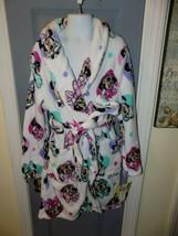 Disney Minnie Mouse White Plush Fleece Bathrobe Robe Size 10 Girl's NEW - $35.60