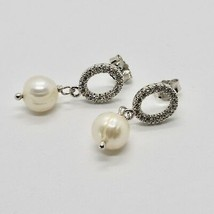 Drop Earrings 925 Silver Pearls Hope by Mary Jane Ielpo Made in Italy image 2