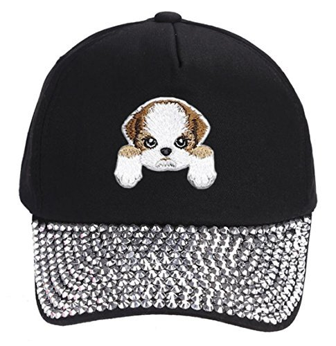 Shih Tzu Dog Hat Cute Puppy Dog Cap (Rhinestone)