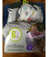 Go by Goldbug 2-in-1 Shopping Cart High Chair Cover Horses NEW - $17.50