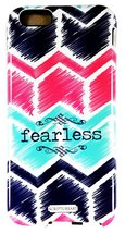 "Scripture Art Allie ""Fearless"" Two Piece iPhone 6 Tough Case Chevron Ins... - $9.99"