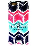 "Scripture Art Allie ""Fearless"" Two Piece iPhone 6 Tough Case Chevron Ins... - $9.99"