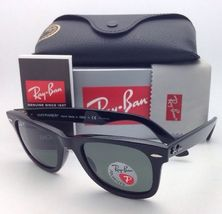 New Ray-Ban Polarized Sunglasses RB 2140 901/58 54-18 WAYFARER Black Frame/Green image 9