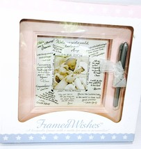 Photo Frame Personalizable for Baby Girl Framed Wishes in Pink by Stepha... - $12.99
