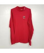 VINTAGE Nebraska Cornhuskers Mens Mock Neck Long Sleeve Shirt Medium M R... - $37.36