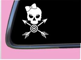 "Archery Girl Crossbones TP 415 vinyl 6"" Decal Sticker bow arrow target bullseye - $3.99"
